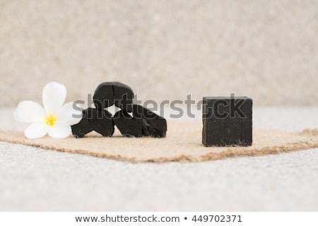 Természetes szén szappan szépség fekete bőr Stock fotó © joannawnuk