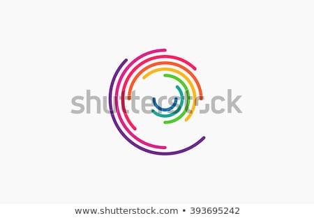 preto · círculo · globo · logotipo · da · empresa · vetor · ícone - foto stock © vector1st