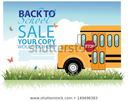 back to school sale background eps 10 stock photo © beholdereye