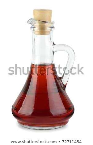 Decanter with red wine vinegar Stock photo © digitalr