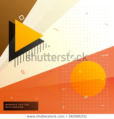 stylish warm color memphis background with geometric shapes Stock photo © SArts