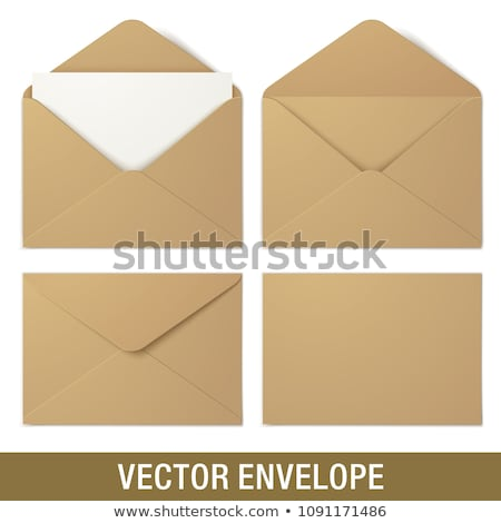 empty envelope back side realistic mockup template Stock photo © SArts