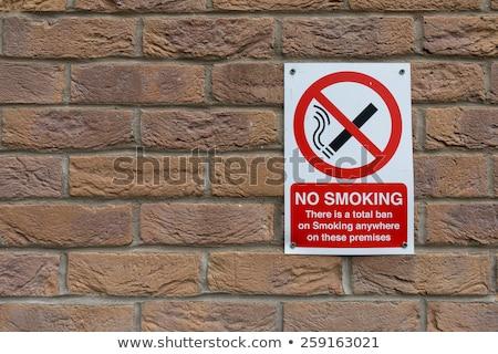 öreg dohányozni tilos felirat akasztás kerítés fa Stock fotó © michaklootwijk