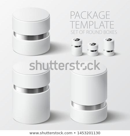 Wektora polu szablon realistyczny szkatułce okładka Zdjęcia stock © Mediaseller