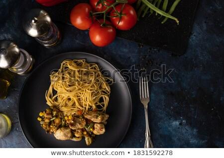 好吃 意大利的 巴馬 黑暗 木 熱 商業照片 © Yatsenko