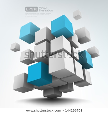 Vector squares and cubes illustration / infographic Stock photo © orson