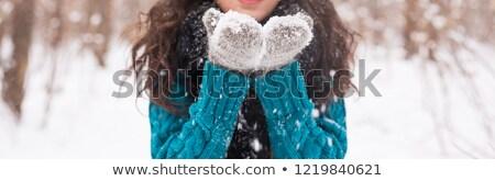 El beyaz eldiven şapka Stok fotoğraf © wavebreak_media