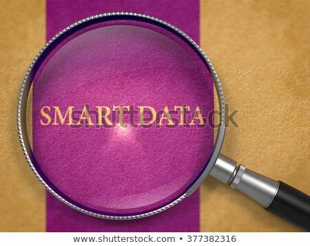 Smart gegevens lens oud papier donkere Stockfoto © tashatuvango