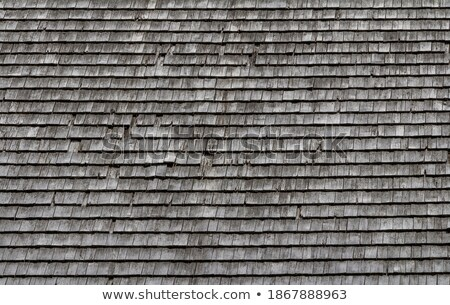 Stock photo: Closeup shot of background of old roof tiles