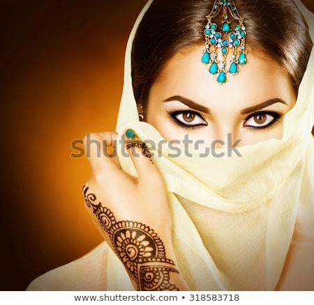 Elegancki kobieta za zasłona zmysłowy stwarzające Zdjęcia stock © LightFieldStudios