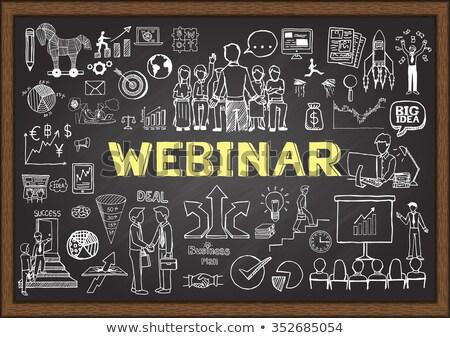 Online Courses - Doodle Yellow Text. Business Concept. Stock photo © tashatuvango