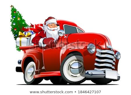 рождественская · елка · Дед · Мороз · подарки · красный · автомобилей - Сток-фото © studiostoks