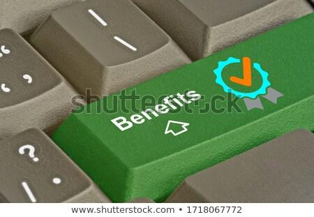 bilgisayar · klavye · ödüllendirmek · mavi · anahtar · iş · dizüstü · bilgisayar - stok fotoğraf © tashatuvango