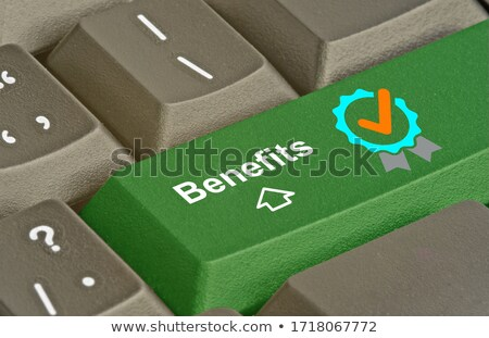 Voordeel toetsenbord moderne Blauw Stockfoto © tashatuvango