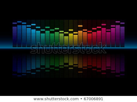 Coloful Graphic Equalizer Display. Stock photo © almagami