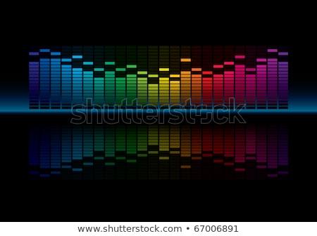 grafikus · hangszínszabályozó · kirakat · szerkeszthető · vektor · zene - stock fotó © almagami