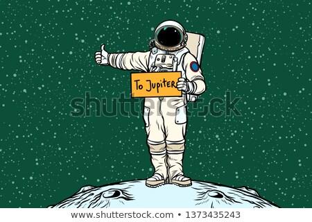 Astronaut hitch rides on Jupiter Stock photo © studiostoks