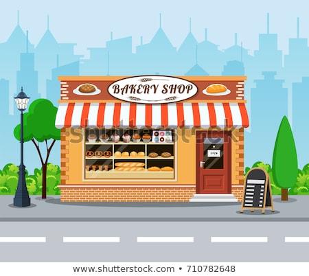 ciudad · panadería · tienda · vista · edificio - foto stock © studioworkstock