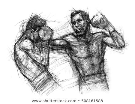 Bokser walki boks pierścień człowiek sportu Zdjęcia stock © wavebreak_media