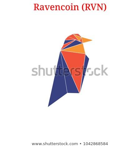 Ravencoin - Blockchain Cryptocurrency Coin Image. Stock photo © tashatuvango