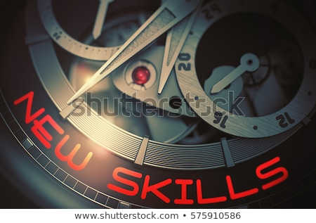 Knowledge on the Luxury Wristwatch Mechanism. 3D. Stock photo © tashatuvango