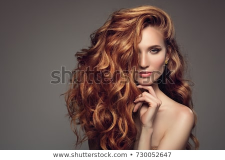 Beautiful redhead girl with glamour makeup. Stock photo © NeonShot