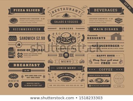 klasszikus · szendvicsek · felirat · stílus · szendvics · grafikus - stock fotó © balasoiu