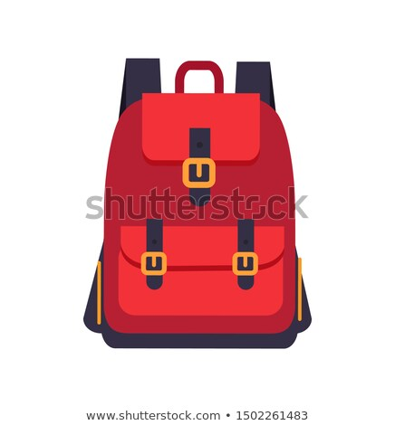 Red Backpack with Black Slings Colorful Banner Stock photo © robuart
