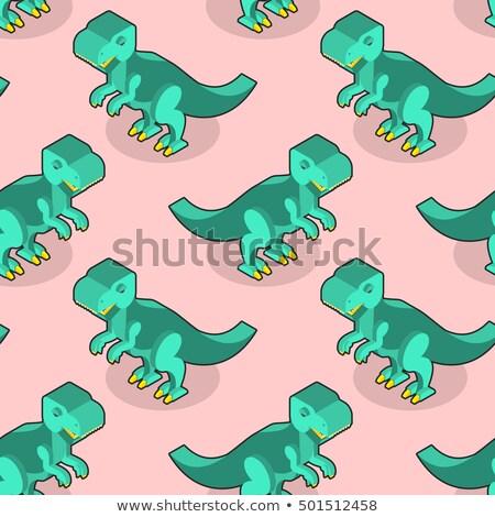 Végtelen minta nagy zöld ragadozó retro textúra Stock fotó © popaukropa