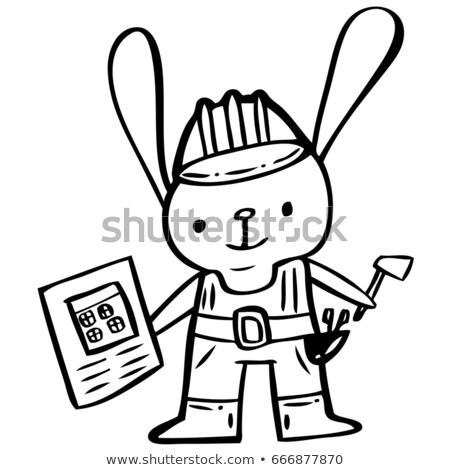 Cartoon sorridere coniglio animale Foto d'archivio © cthoman