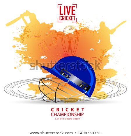 Cricket victory in blue vector illustration Stock photo © Vicasso