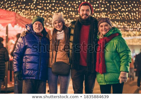 family visiting christmas market stock photo © kzenon