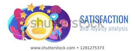 Satisfaction and loyalty analysis concept banner header. Stock photo © RAStudio