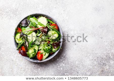 レタス サラダ 木製のテーブル 先頭 表示 コピースペース ストックフォト © karandaev