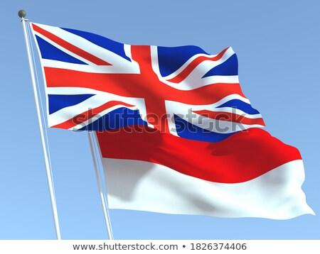 два флагами Индонезия изолированный белый Сток-фото © MikhailMishchenko