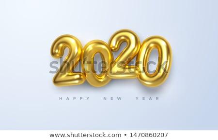 3D altın metin 3d illustration happy new year Internet Stok fotoğraf © ribah