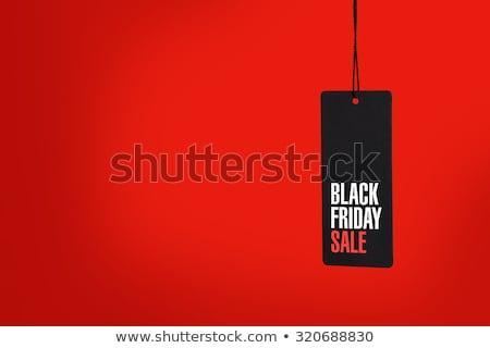 papír · ár · címke · black · friday · üzlet · divat - stock fotó © robuart