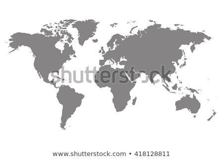 Iş dünya haritası kadın ofis çalışmak harita Stok fotoğraf © lemony