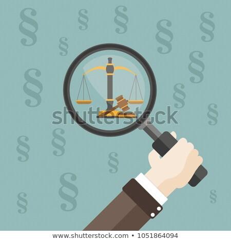 Nyaláb egyensúly fehér arany szalag 3d illusztráció Stock fotó © limbi007
