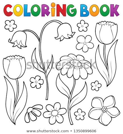 Coloring book flower topic 9 Stock photo © clairev