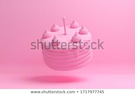 Birthday cake 3D Stock photo © djmilic