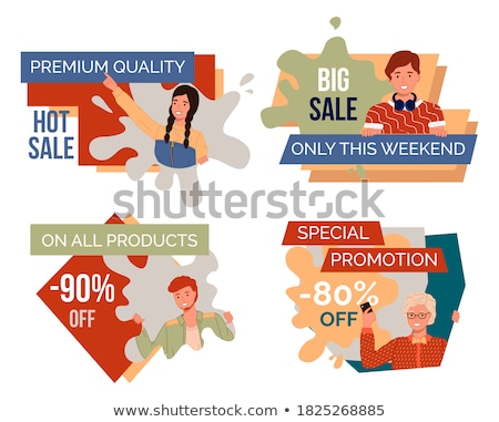Sale on All Products, 90 Percent Shop Discounts Stock photo © robuart