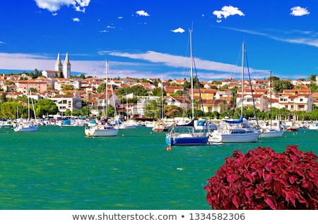 ville · bord · de · l'eau · panoramique · vue · région · Croatie - photo stock © xbrchx
