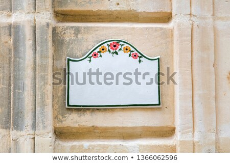 Traditional Maltese home sign board at Gozo, Malta Stock photo © boggy