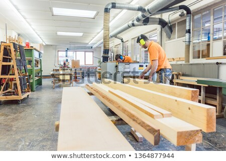 Stock photo: Lots of wood work to do for the carpenters