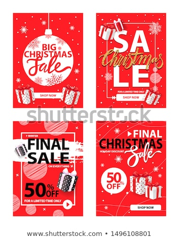 Big Christmas Sale 50 Percent Off Reduction Price Zdjęcia stock © robuart