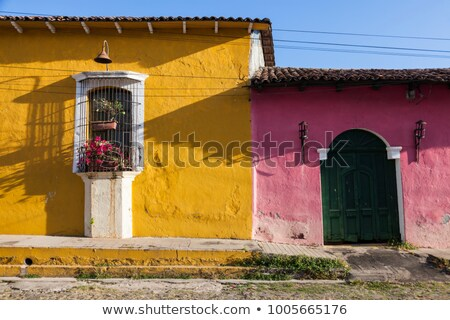 Colorful architecture of Suchitoto Stock photo © benkrut