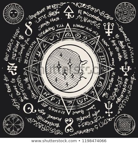 vintage astrology emblems stock photo © netkov1