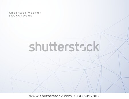 subtle low poly line style white background Stock photo © SArts