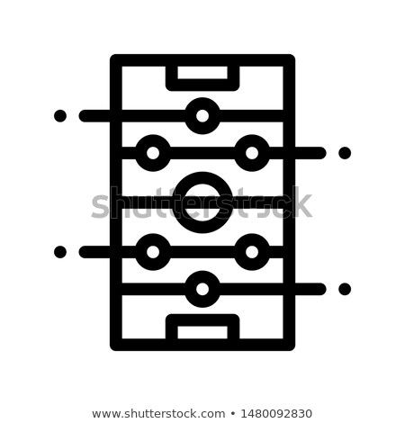 Interactive Kids Castle Personage Vector Sign Icon Stock photo © pikepicture